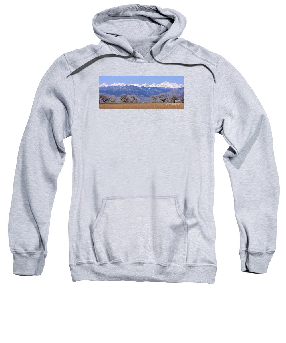 Boulder Sweatshirt featuring the photograph Boulder County Colorado Panorama by James BO Insogna