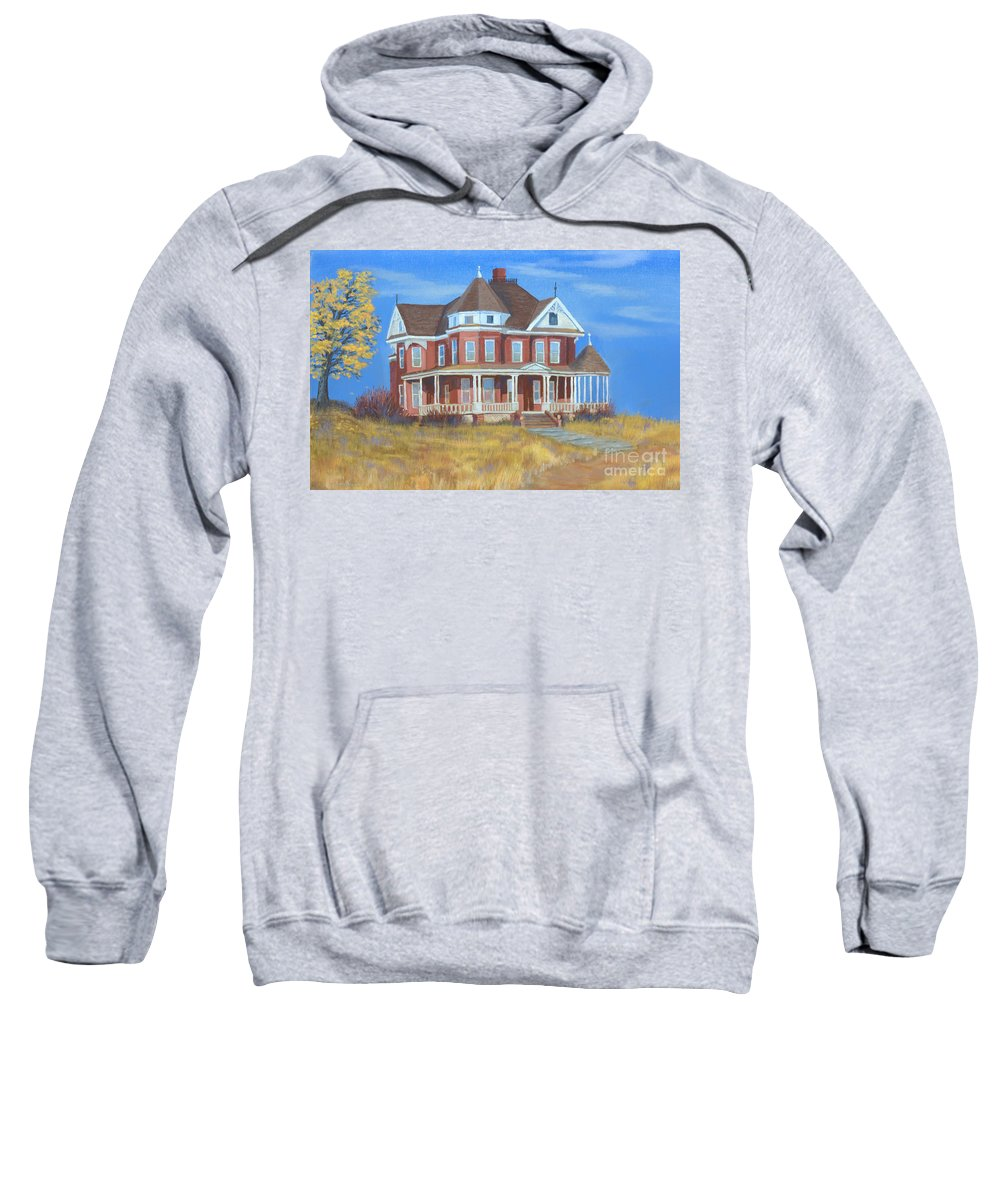 Boulder Sweatshirt featuring the painting Boulder Victorian by Jerry McElroy