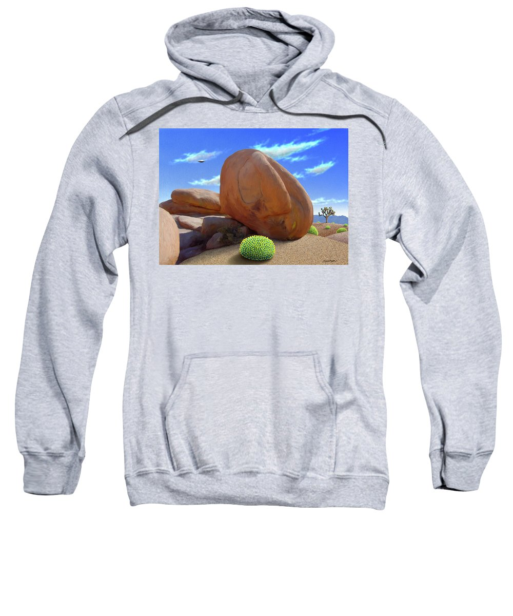 Boulders Sweatshirt featuring the digital art Boulders by Snake Jagger