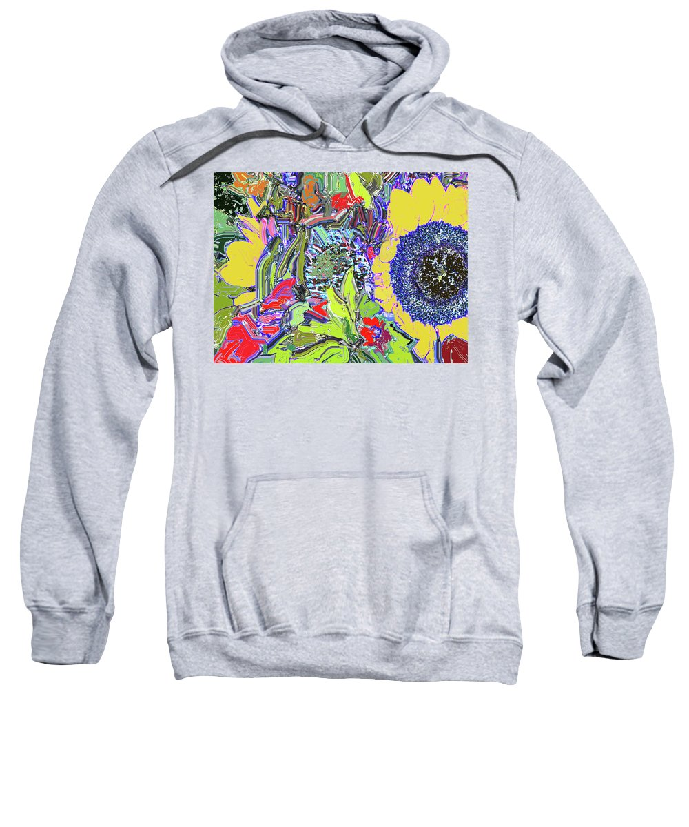 Flowers Sweatshirt featuring the digital art Bouquet In Yellow And Red by Ian MacDonald