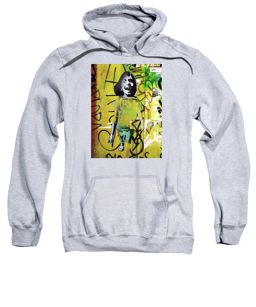 Graffiti Sweatshirt featuring the photograph Boy In Yellow by Roger Muntes