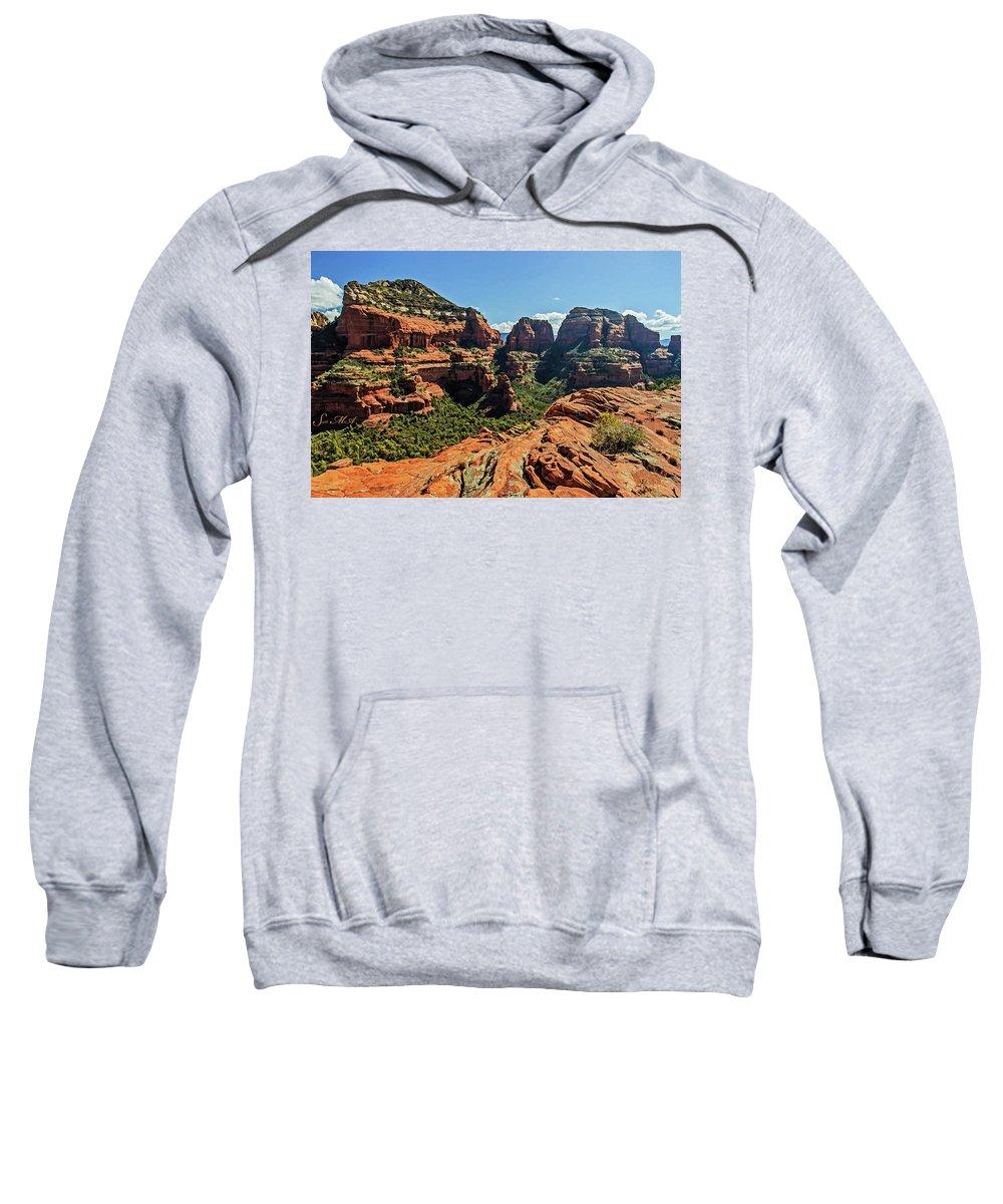 Arizona Sweatshirt featuring the photograph Boynton Canyon 07-054 by Scott McAllister