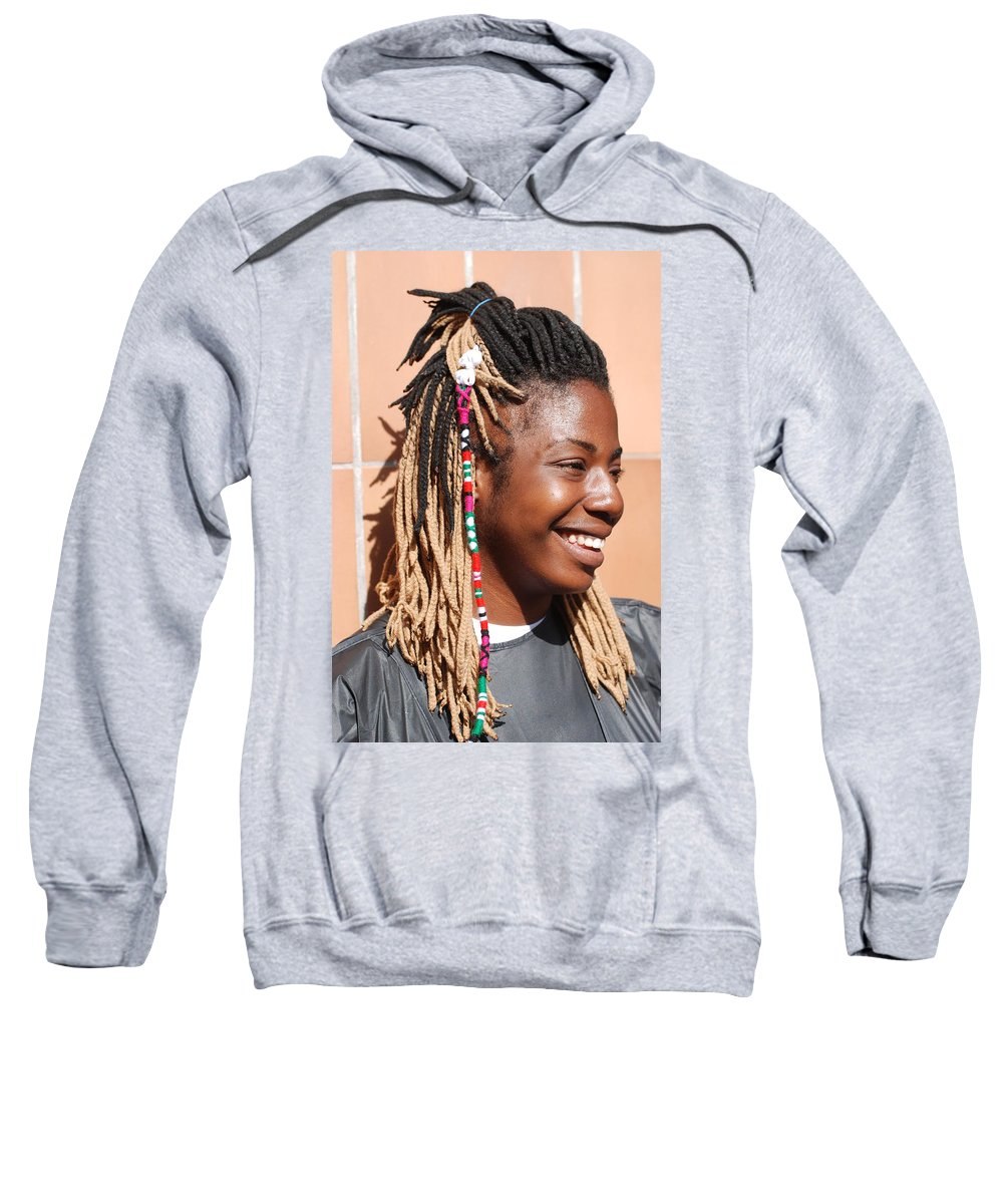 People Sweatshirt featuring the photograph Braided Lady by Rob Hans