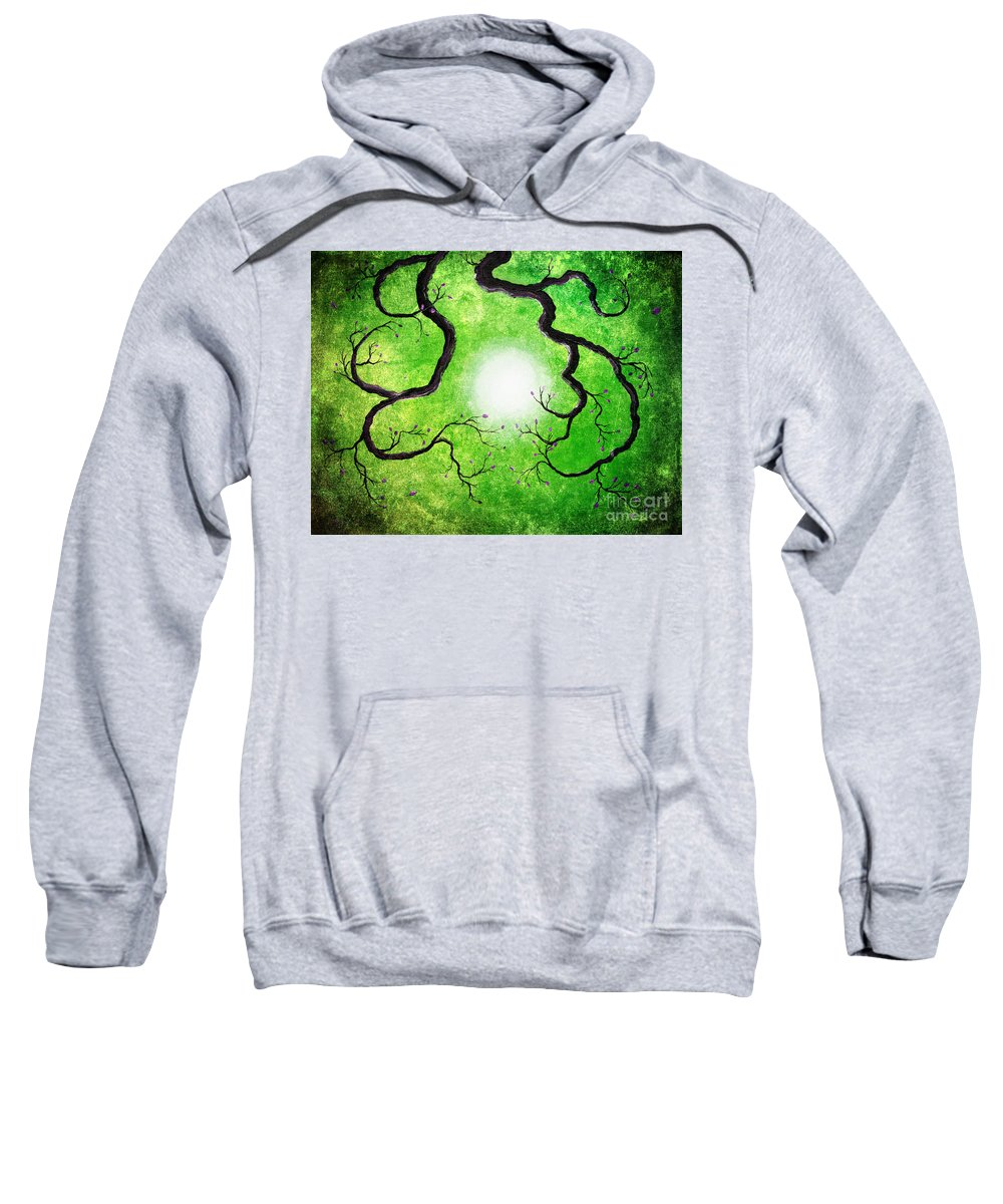 Zen Sweatshirt featuring the digital art Branches Holding The Sun by Laura Iverson