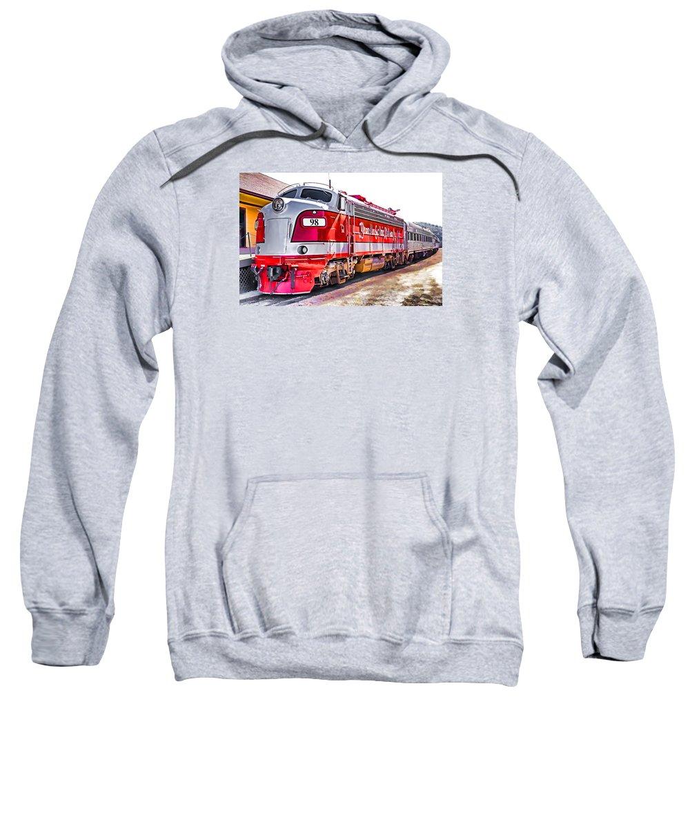 Usa Sweatshirt featuring the photograph Branson Engine 98 by Dennis Cox
