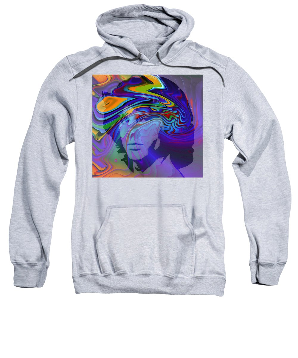 Digital Painting Jim Morrison The Doors Break On Through Expressionism Impressionism 60s 70s Immortal Portrait Man Young Male Songwriter Singer Sweatshirt featuring the digital art Break On Through by Steve K