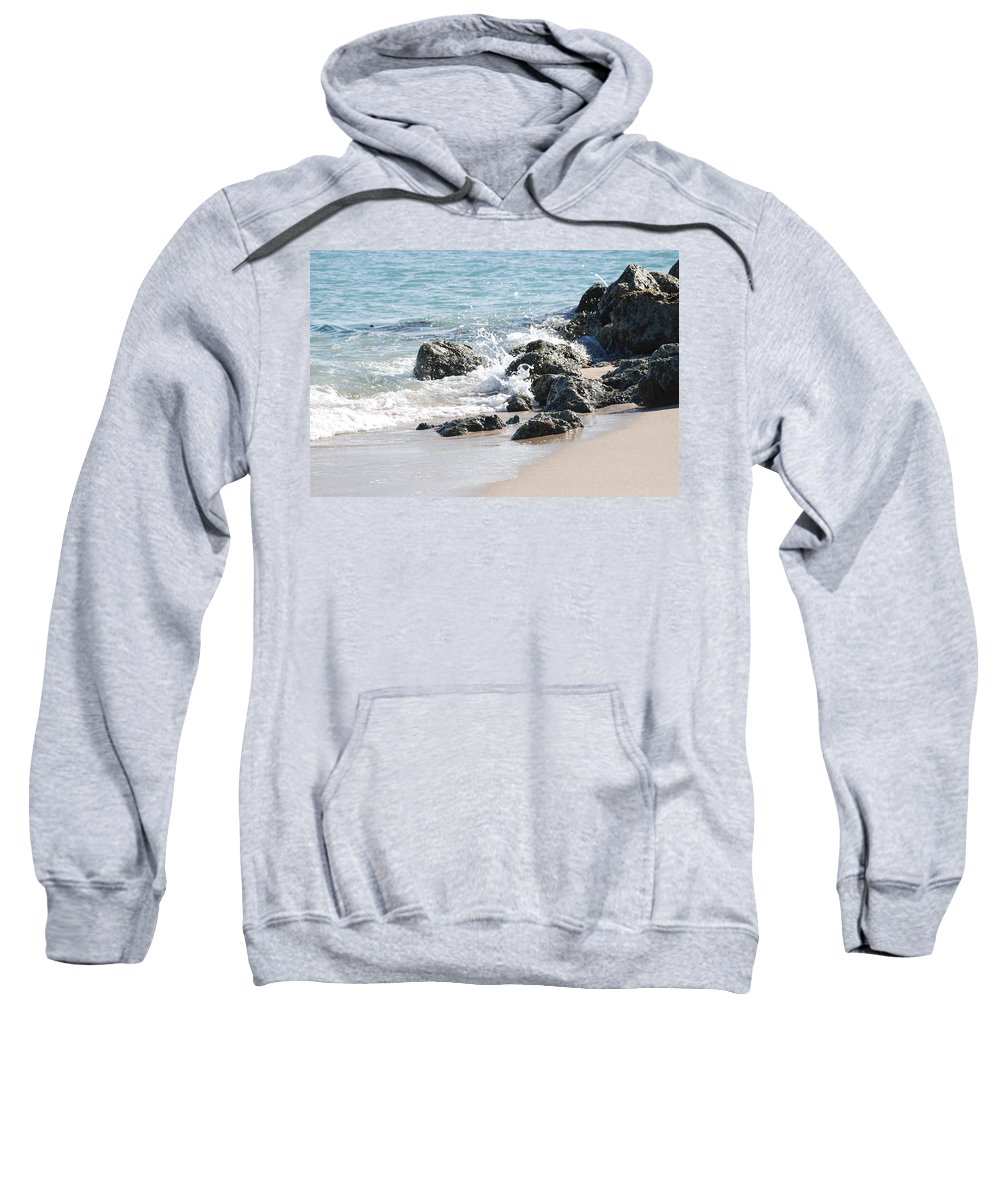 Scenic Sweatshirt featuring the photograph Breakers by Rob Hans