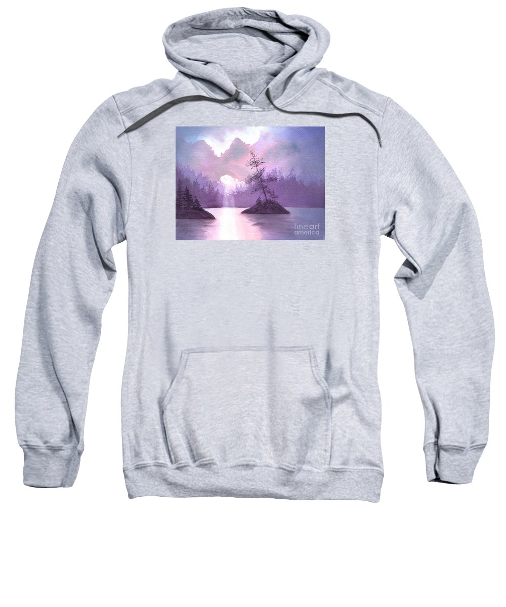 Landscape Sweatshirt featuring the painting Breakthrough by Lynn Quinn