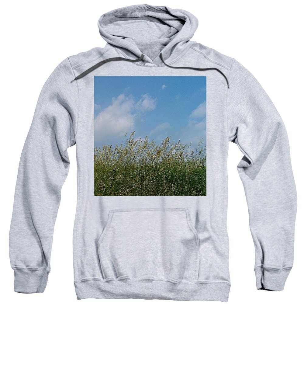 Sky Sweatshirt featuring the photograph Breezy Day by Sara Raber