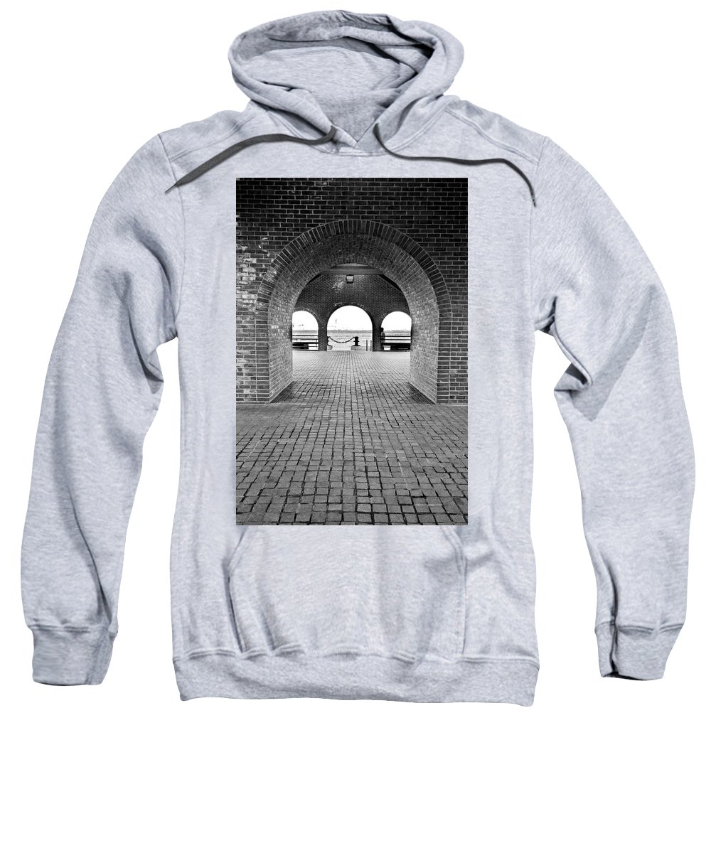 Arch Sweatshirt featuring the photograph Brick Arch by Greg Fortier