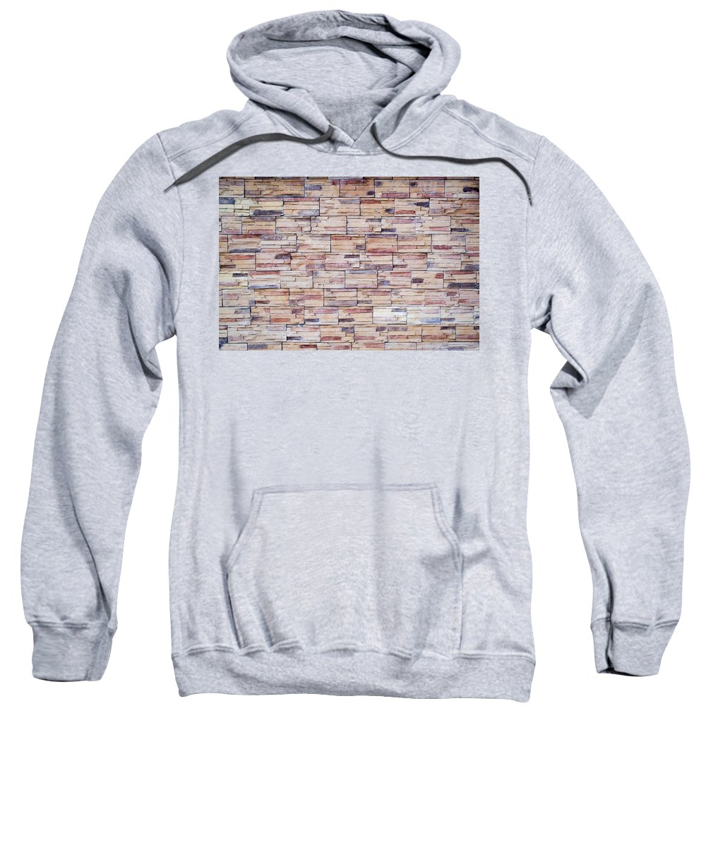Builder Sweatshirt featuring the photograph Brick Tiled Wall by John Williams