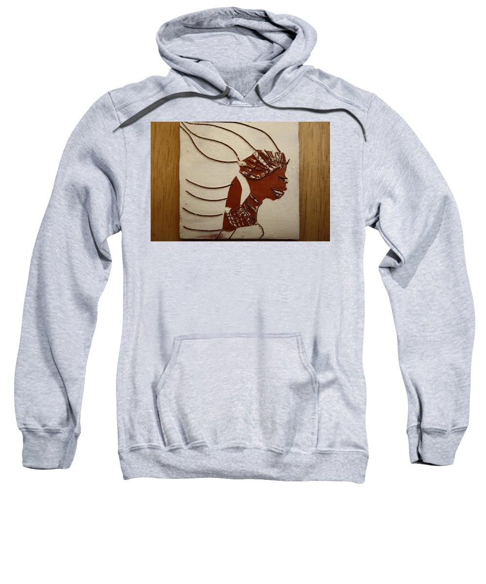 Jesus Sweatshirt featuring the ceramic art Bride 12 - Tile by Gloria Ssali