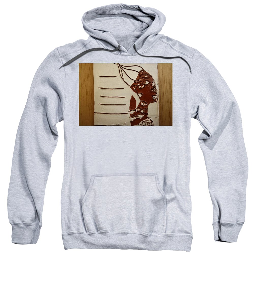 Jesus Sweatshirt featuring the ceramic art Bride 8 - Tile by Gloria Ssali