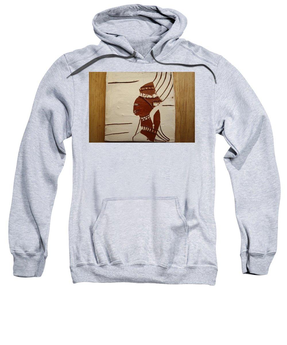 Jesus Sweatshirt featuring the ceramic art Bride 9 - Tile by Gloria Ssali