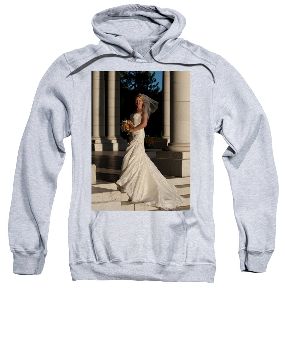 Bride Sweatshirt featuring the photograph Bride In A Park by Angus Hooper Iii