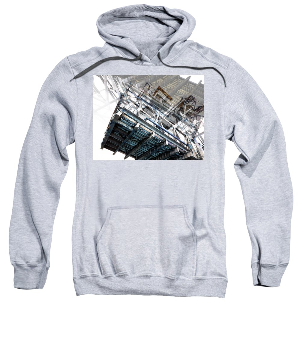 Bridge Abstract Sweatshirt featuring the photograph Bridge Abstract by Wayne Sherriff