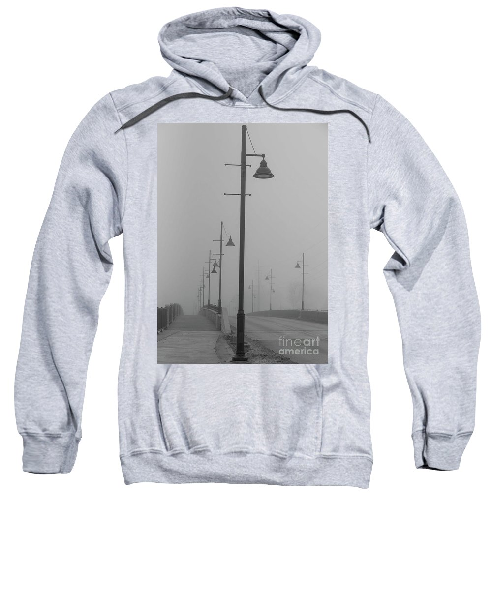 Bridge Sweatshirt featuring the photograph Bridge In Fog by David Bearden