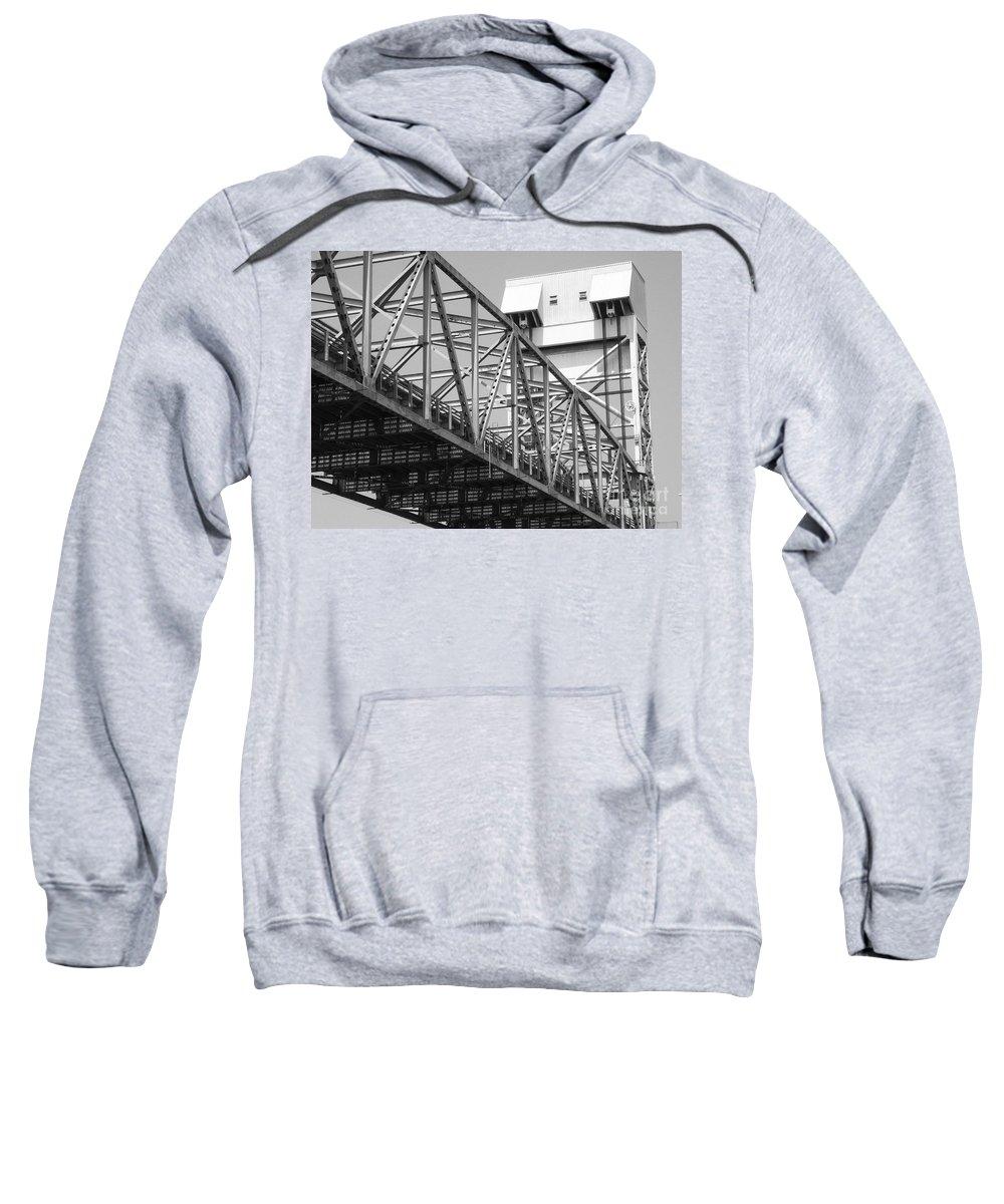 Bridge Sweatshirt featuring the photograph Bridge Willmington Nc by Tommy Anderson
