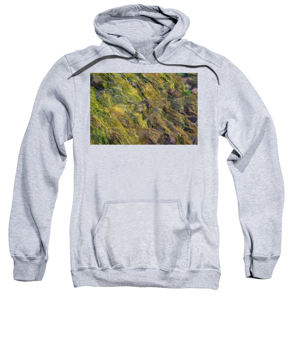 Appealing Sweatshirt featuring the photograph Bright Cheerful Waters by Leland D Howard