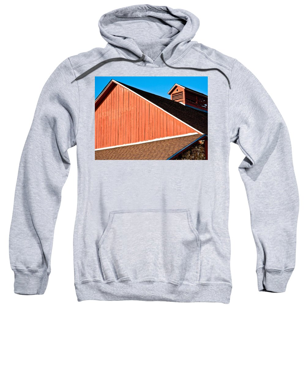 Americana Sweatshirt featuring the photograph Bright Red Barn by Marilyn Hunt