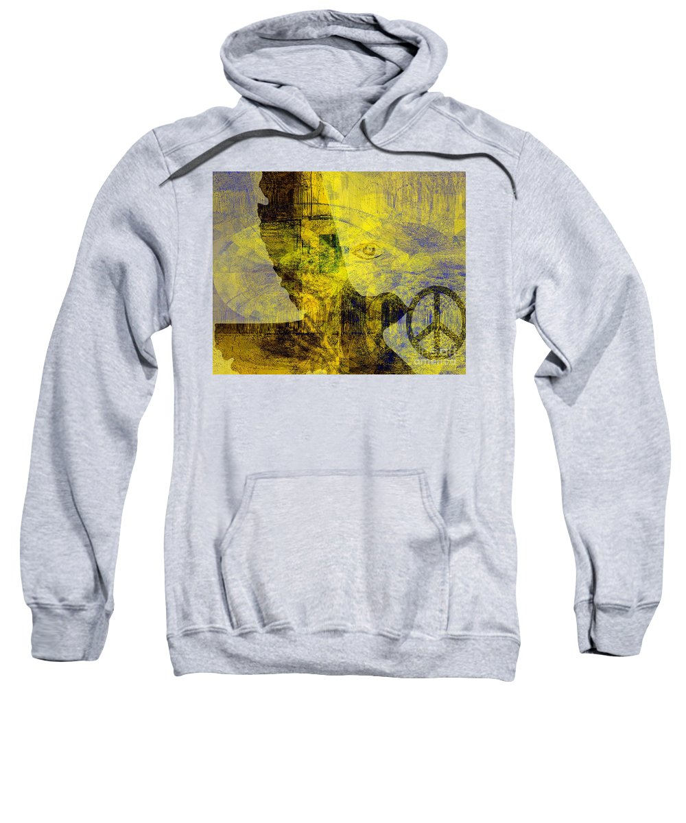 Fania Simon Sweatshirt featuring the mixed media Bring Me The Horizon by Fania Simon
