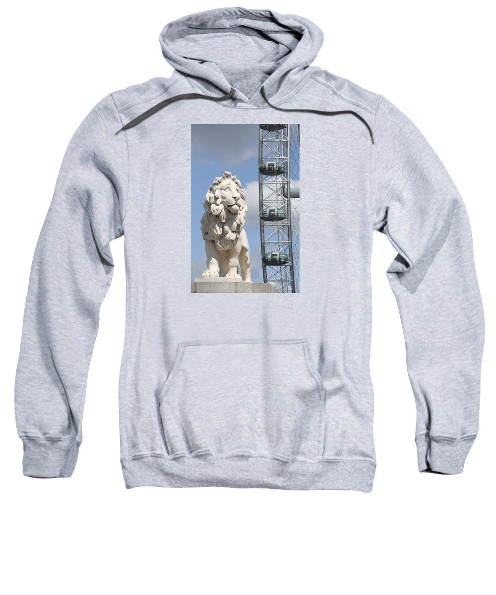 Lion Sweatshirt featuring the photograph Britannia Lion by Margie Wildblood