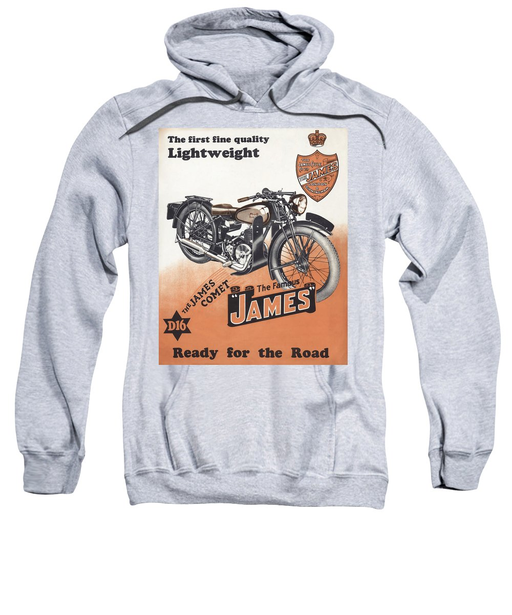 British Motorcycles Sweatshirt featuring the photograph British James Comet Motorcycle 1948 by Daniel Hagerman