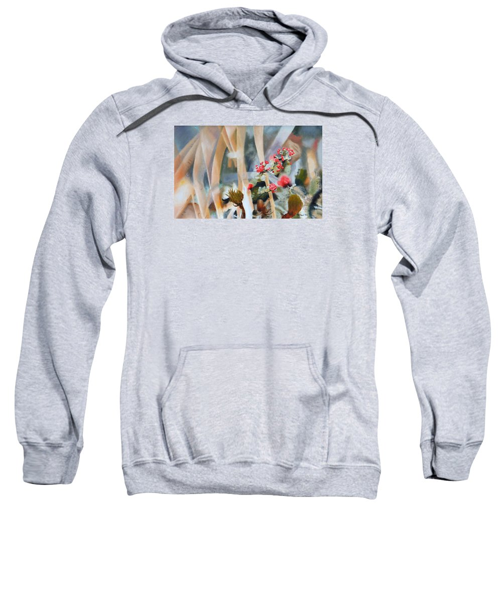 Nature Sweatshirt featuring the painting British Soldiers by Dave Martsolf