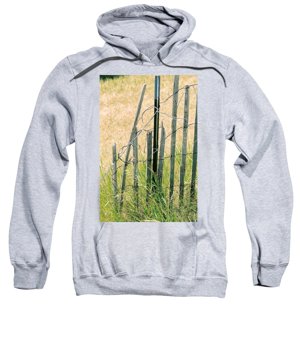 Fence Sweatshirt featuring the photograph Broken Fence by Lauri Novak