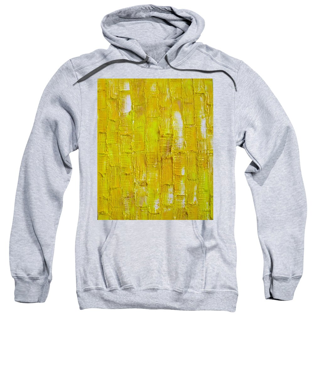 Art Sweatshirt featuring the painting Broken Yolk by Dawn Hough Sebaugh