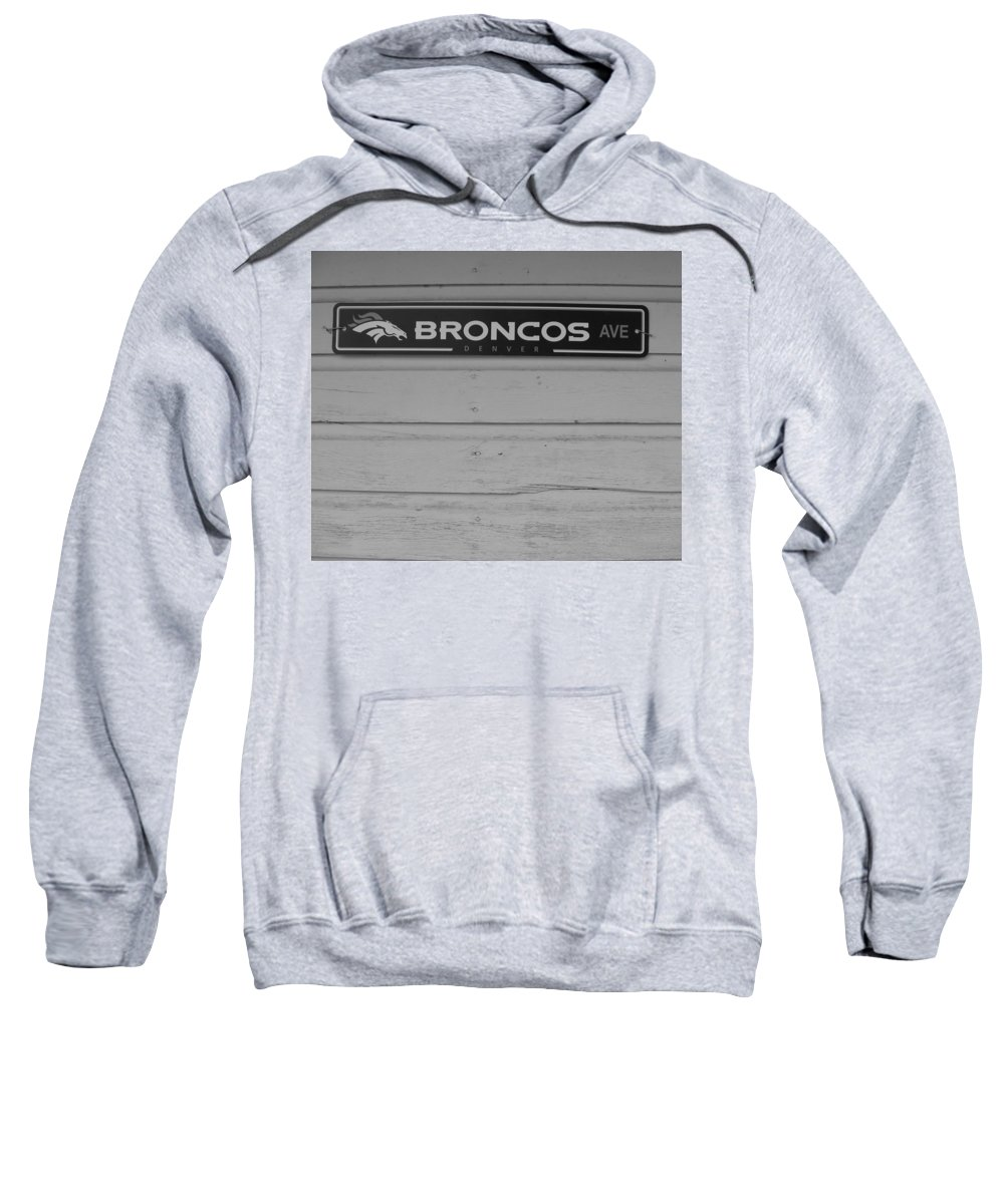Black And White Photography Sweatshirt featuring the photograph Broncos Avenue by Kirk Griffith
