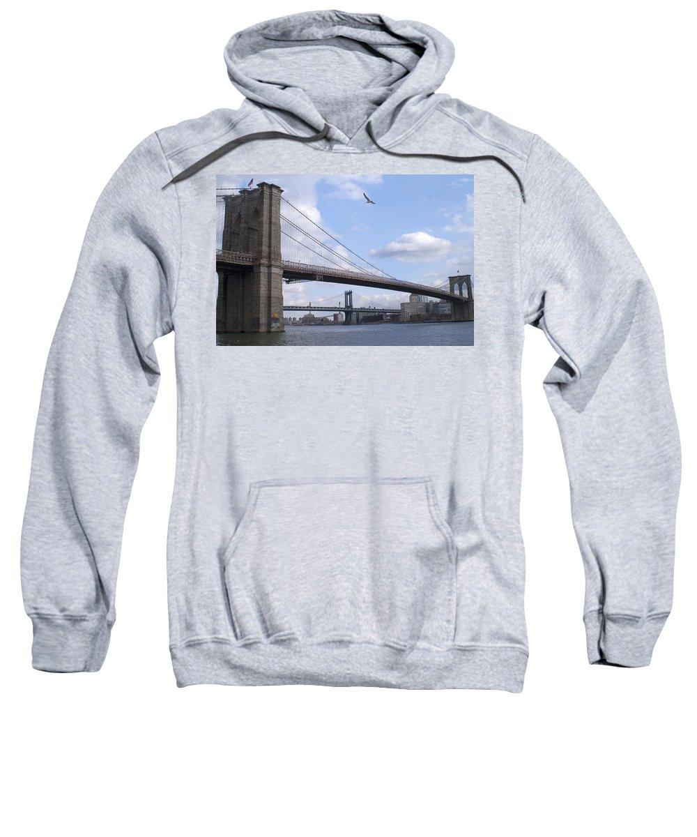 Brooklyn Sweatshirt featuring the photograph Brooklyn Bridge by Henri Irizarri