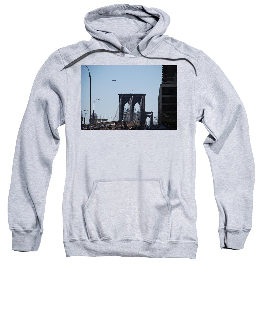 Architecture Sweatshirt featuring the photograph Brooklyn Bridge by Rob Hans