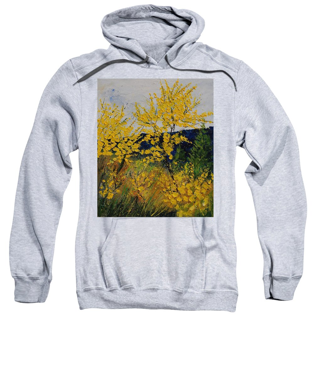 Flowers Sweatshirt featuring the painting Brooms by Pol Ledent