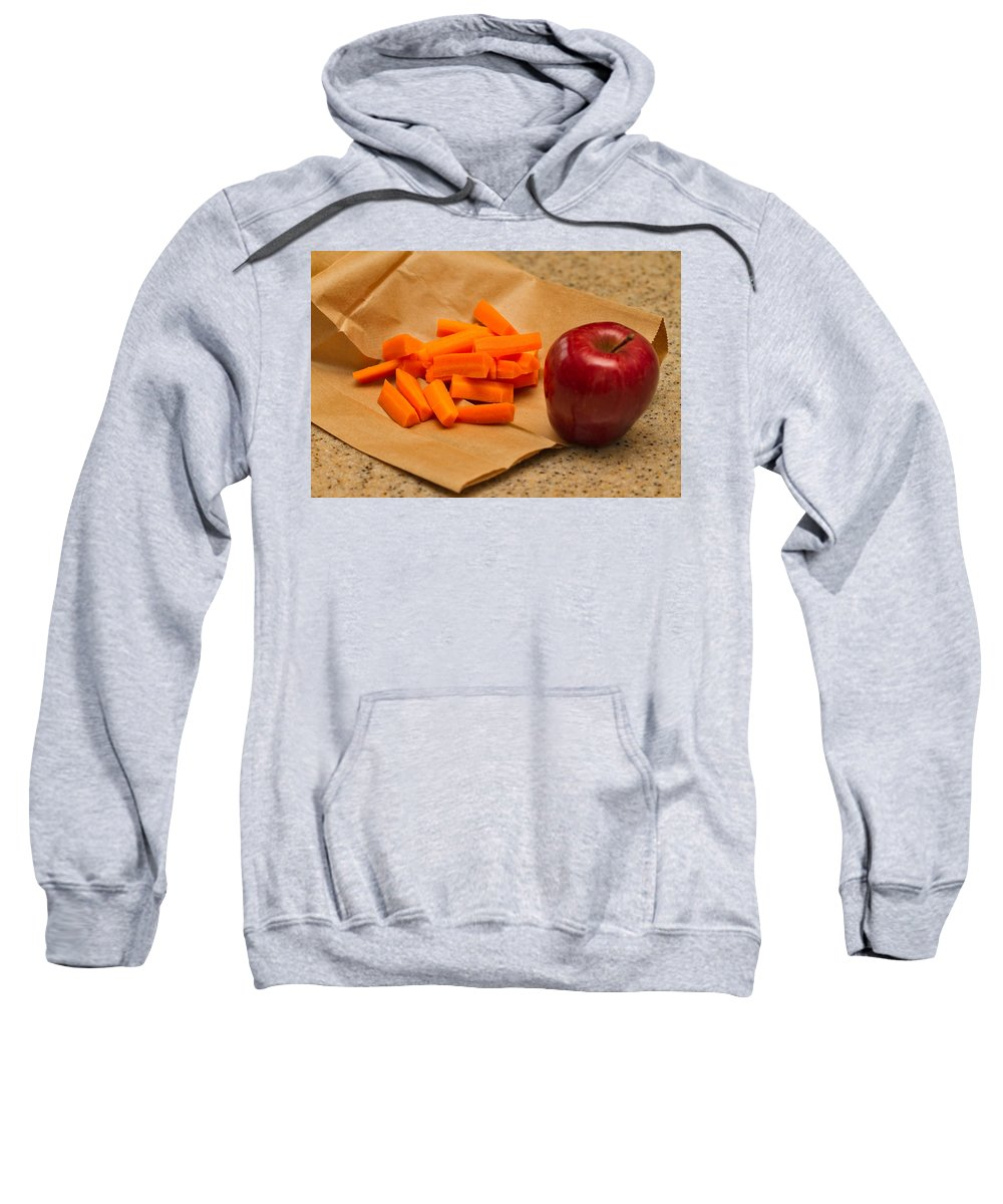Kitchen Sweatshirt featuring the photograph Brown Bag Lunch by Louise Heusinkveld
