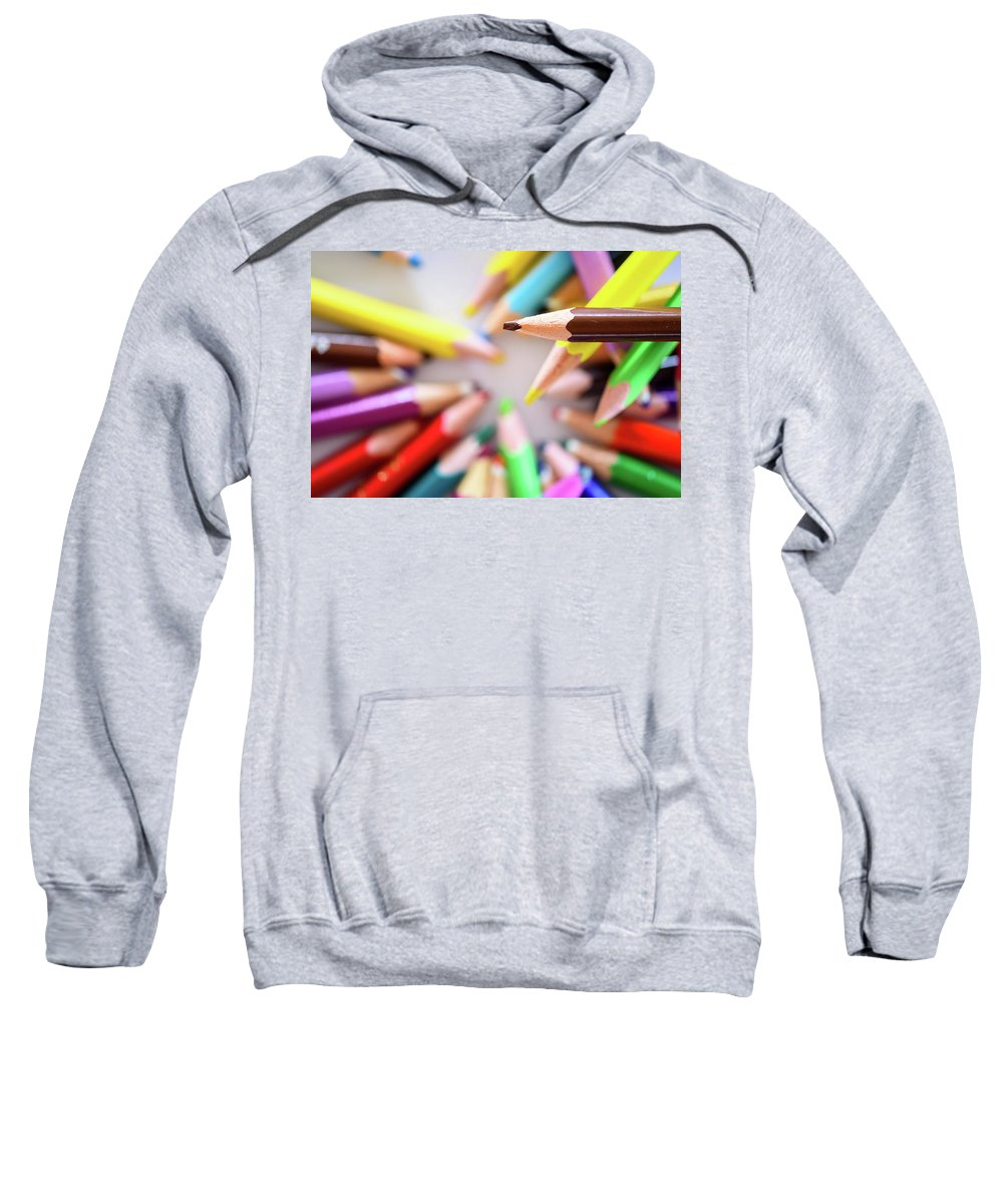 Background Sweatshirt featuring the photograph Brown Pencil by Nicola Simeoni
