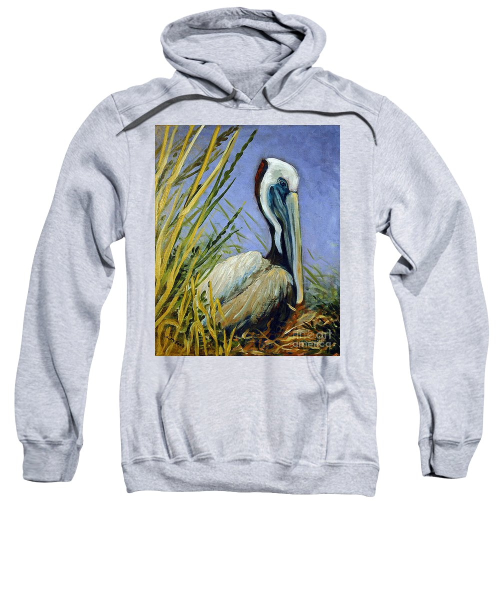 Acrylic Sweatshirt featuring the painting Brownie Nesting by Suzanne McKee
