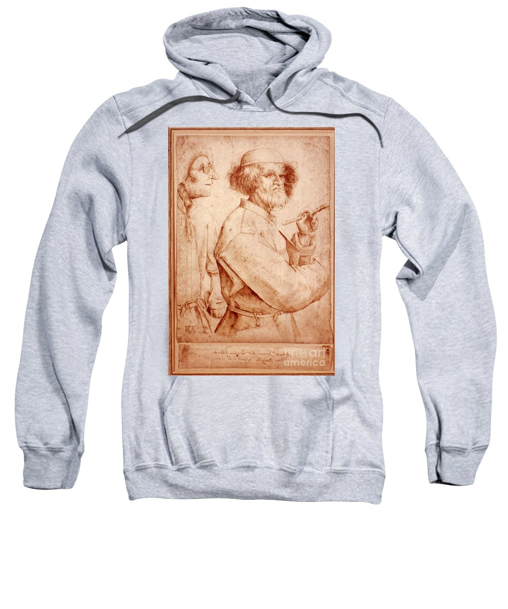 16th Century Sweatshirt featuring the photograph Bruegel: Painter, 1565 by Granger