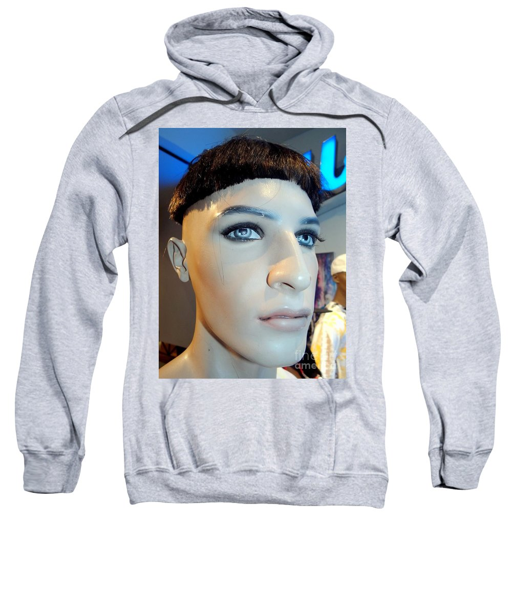 Mannequins Sweatshirt featuring the photograph Bruno's Bowl Cut by Ed Weidman