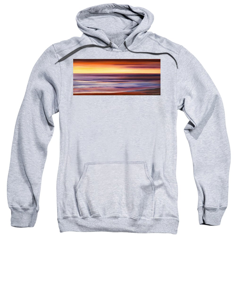 Sunset Paintings Sweatshirt featuring the painting Brushed 2 by Gina De Gorna