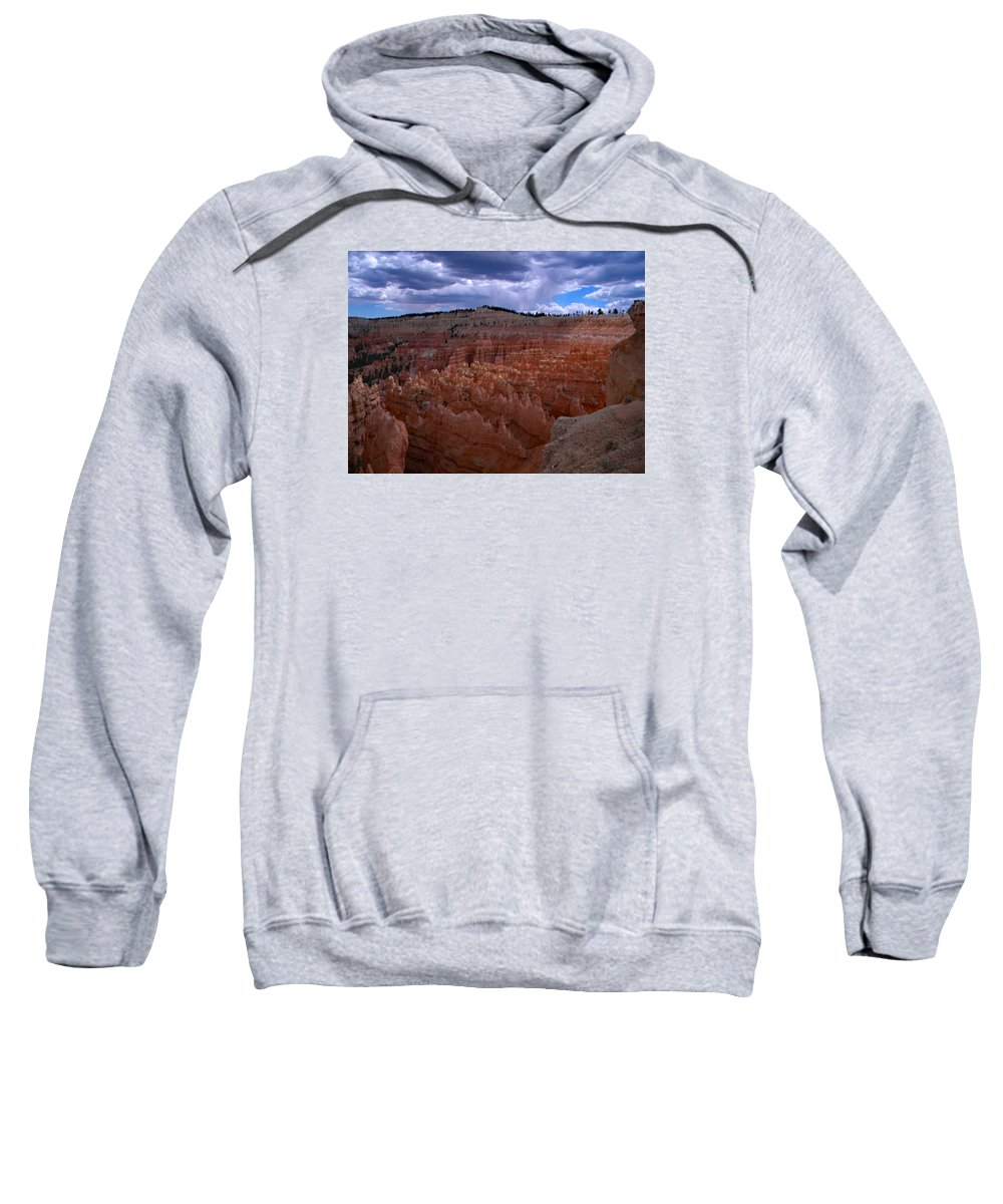 Sweatshirt featuring the photograph Bryce Clouds 2 by Kevin Mcenerney