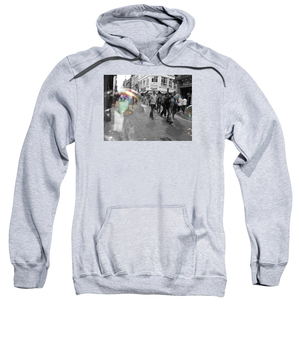 Photography Sweatshirt featuring the photograph Bubbles. Copenhagen. 2 by Cristina Rettegi