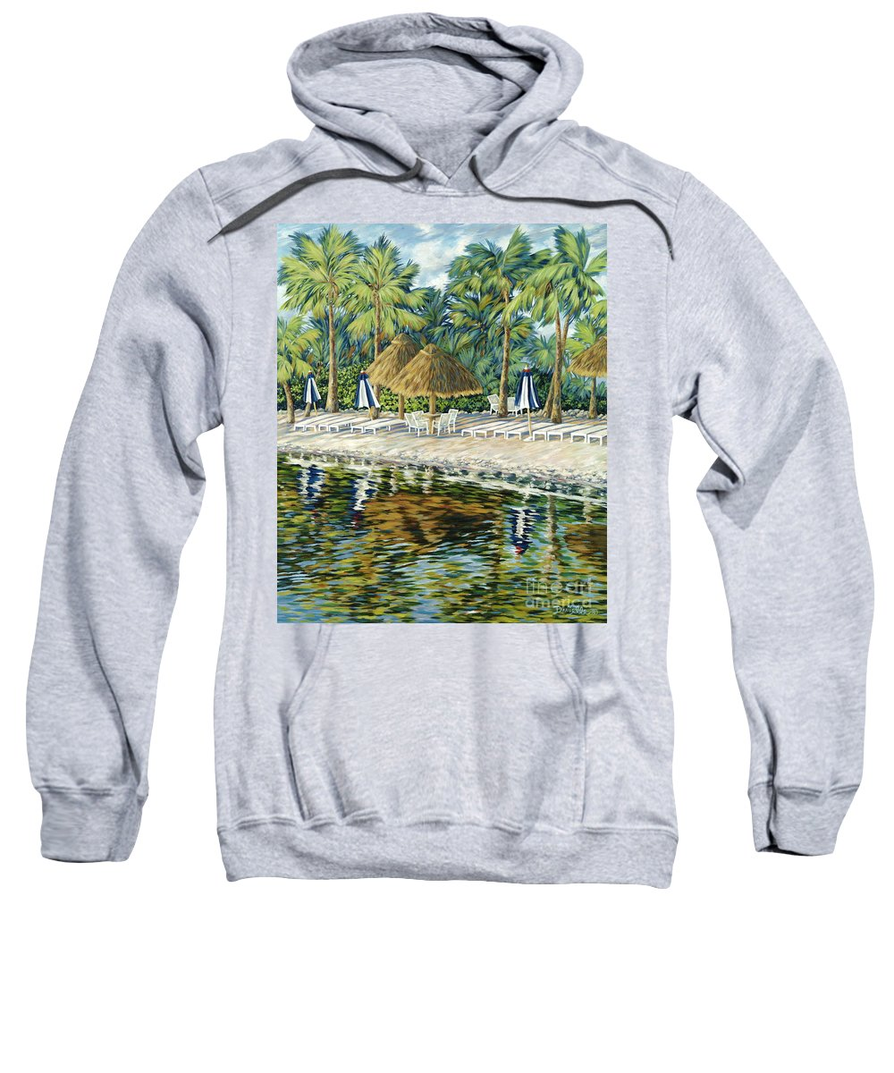 Key Largo Sweatshirt featuring the painting Buccaneer Island by Danielle Perry