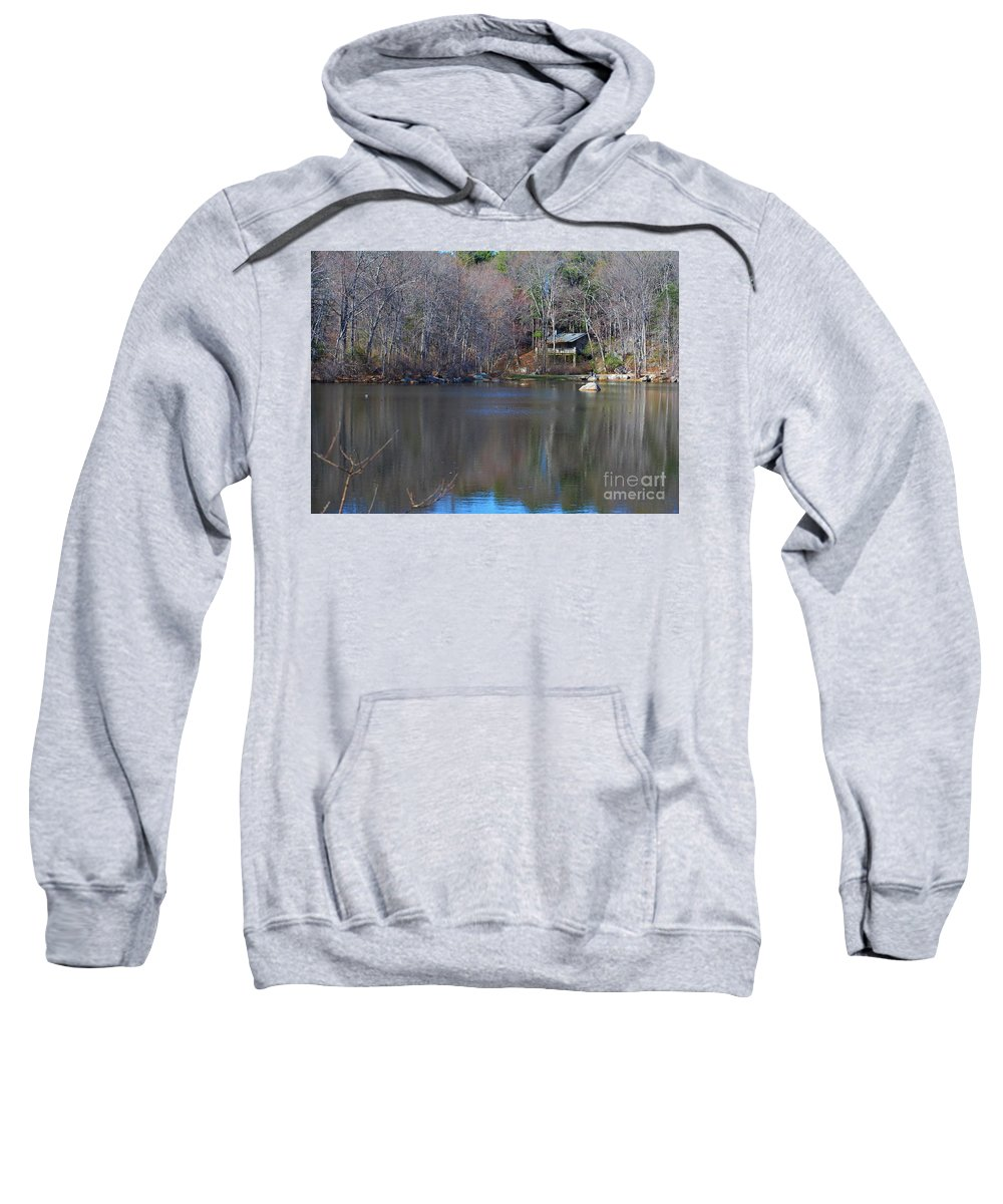 Connecticut College Arboretum Sweatshirt featuring the photograph Buck Lodge by Virginia Levasseur