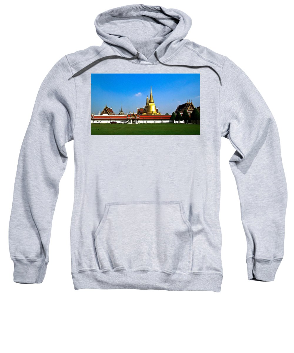 Buddha Sweatshirt featuring the photograph Buddhaist Temple by Douglas Barnett