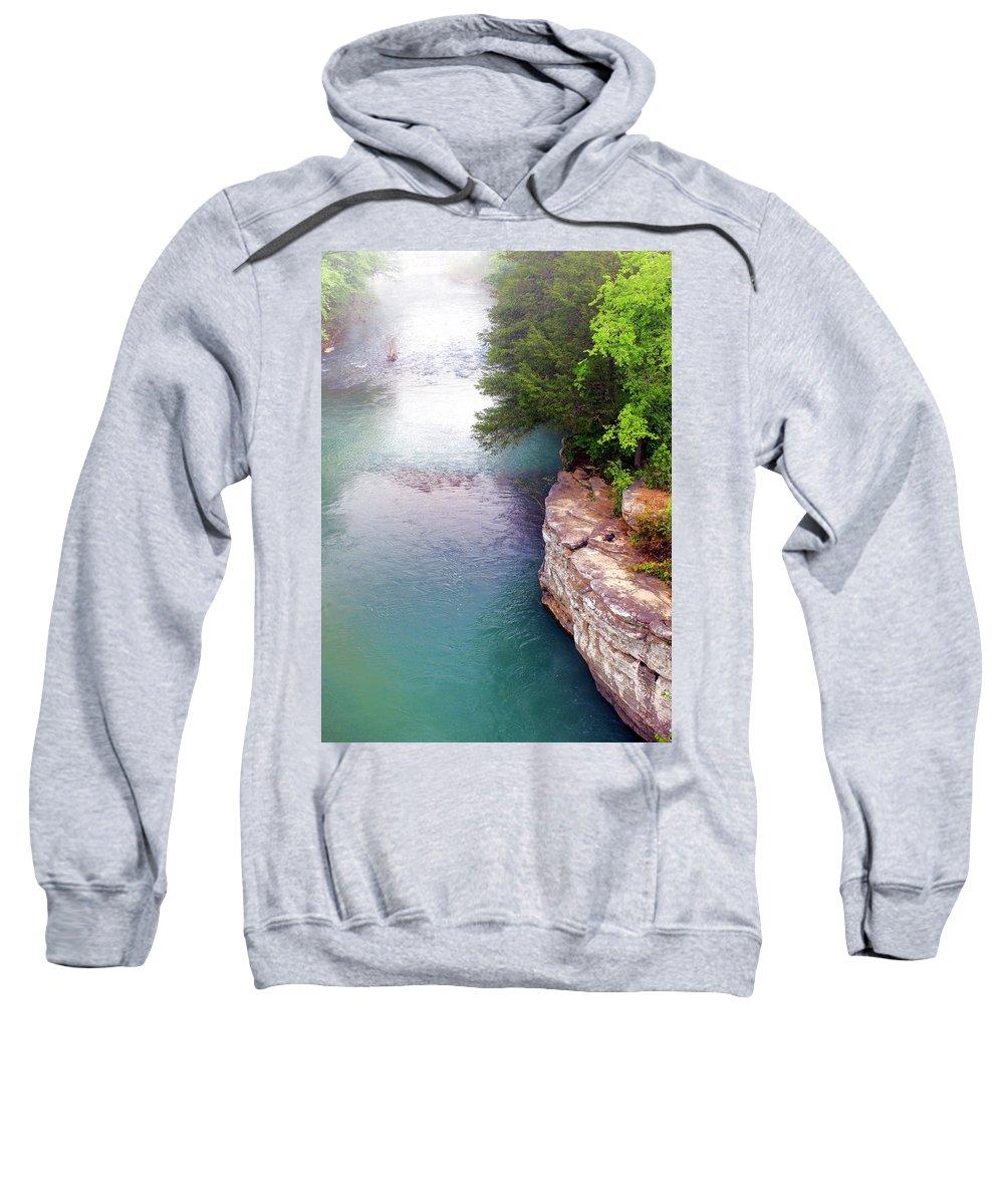 Ozarks Sweatshirt featuring the photograph Buffalo River Mist by Marty Koch