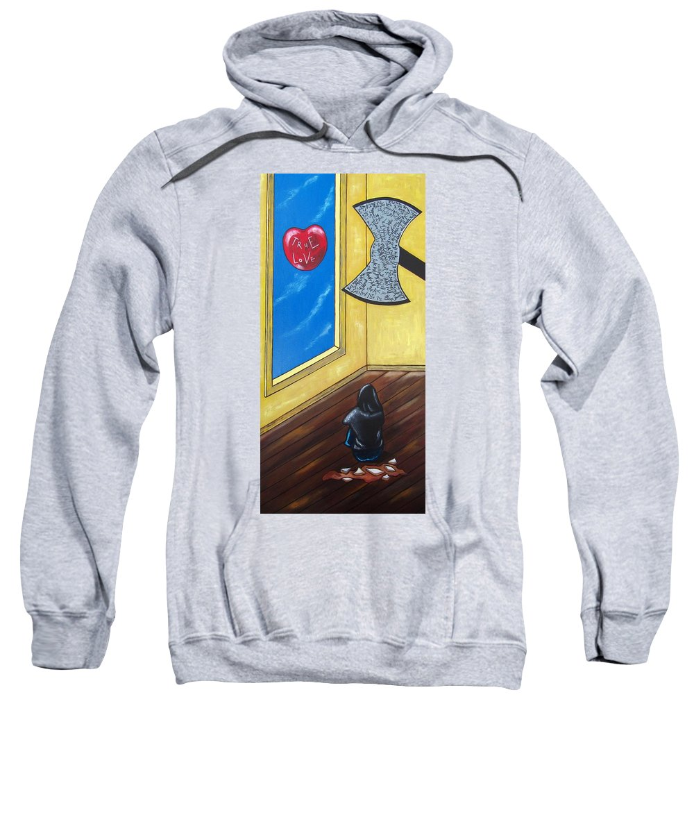 Violence Sweatshirt featuring the painting Bully by Sandra Marie Adams