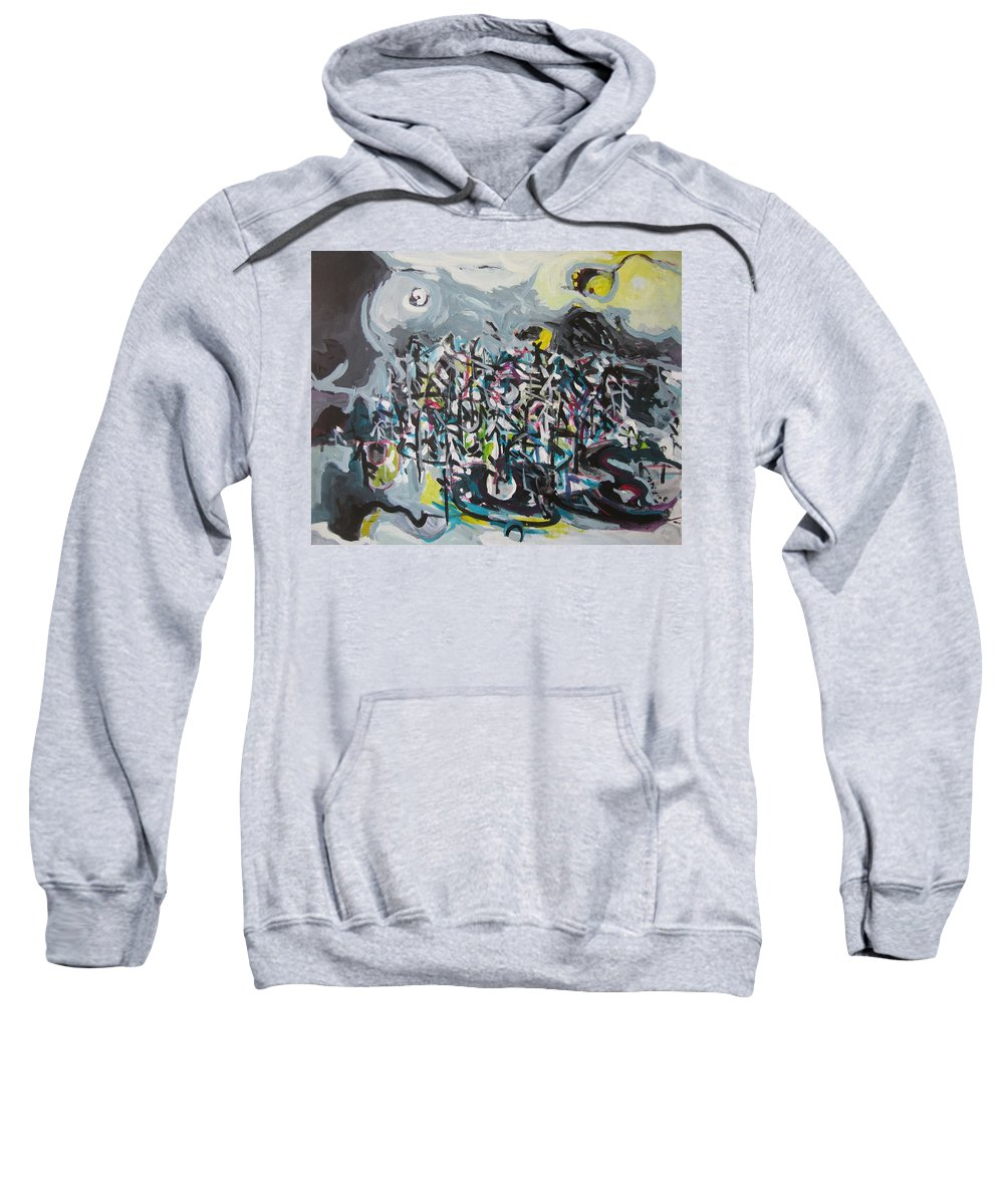 Abstract Paintings Sweatshirt featuring the painting Bummer Flat11 by Seon-Jeong Kim