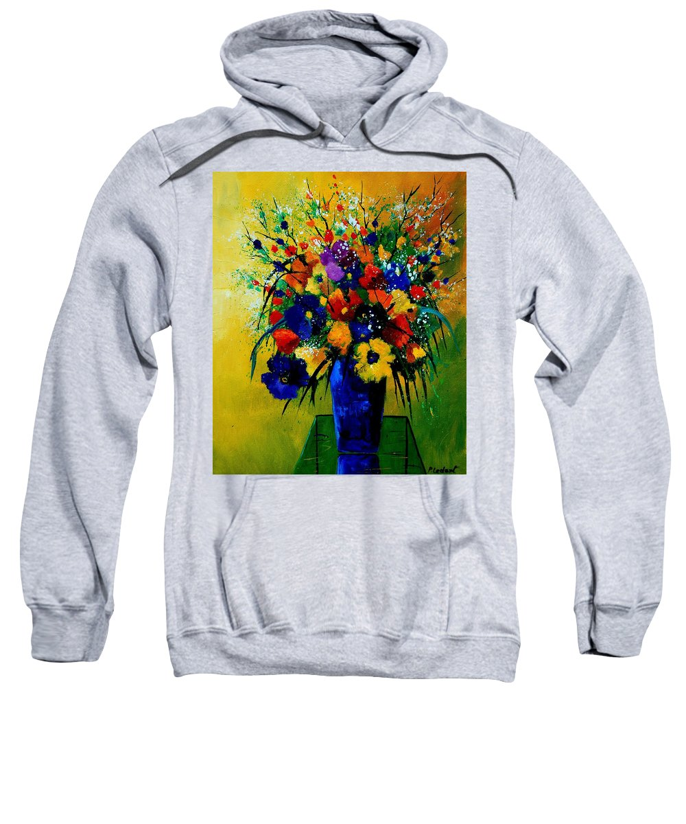 Poppies Sweatshirt featuring the painting Bunch 0508 by Pol Ledent