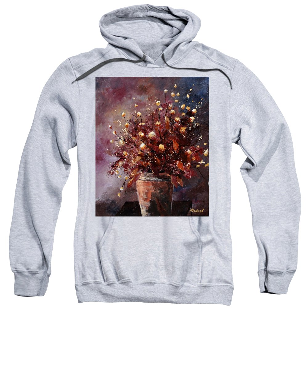 Poppies Sweatshirt featuring the painting Bunch 56 by Pol Ledent